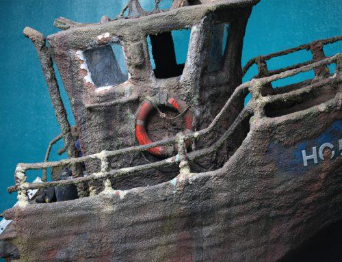 Nordsøen Oceanarium – Opbygning af skibsvrag